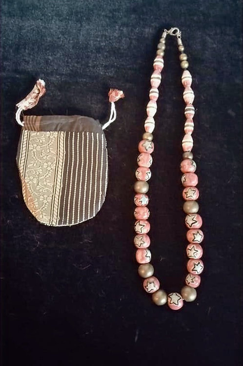 Collar de Ceramica Roja