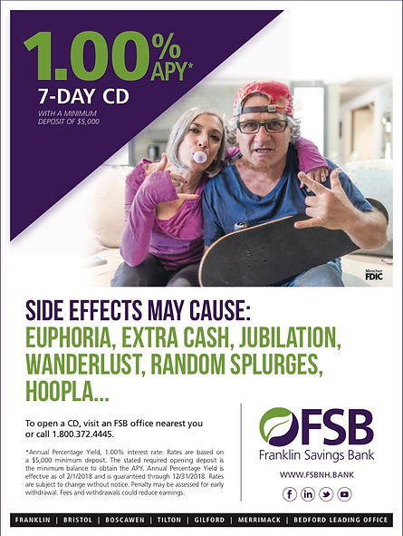 Print Advertising Frankline Savings Bank 7 Day CD