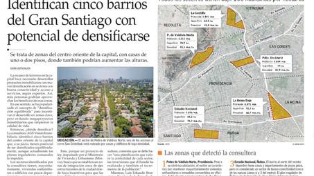 Identifican cinco barrios del Gran Santiago con potencial de densificarse