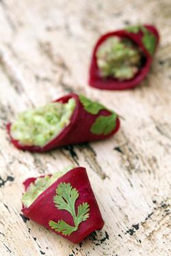 Betterave au guacamole