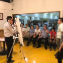 Dr. Goh explaning the Health Screening t