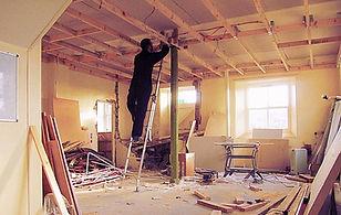 Edward Harpin renovating the Old Chapel