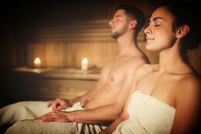 Enjoying the sauna at The Tree Relaxation Retreat