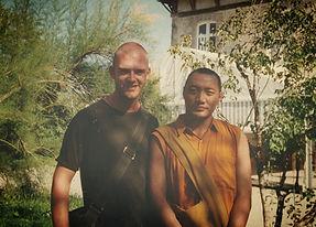 Edward Harpin with Khenpo Garwang