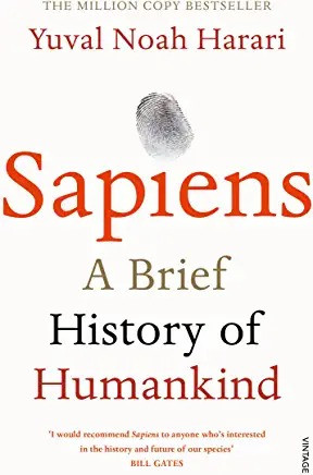 The Cover of the BestSelling book Sapiens by Yuval Harari