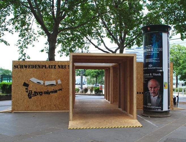 Ausstellung am Schwedenplatz