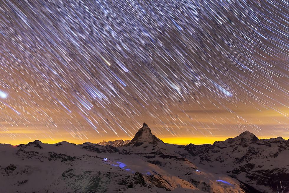 Startrail Matterhorn