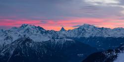 Sonnenaufgangsstimmung mit Matterhorn