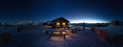 Panorama Morgendämmerung Hörli Hitta