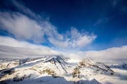 Aletsch Gletscher mit Wolken