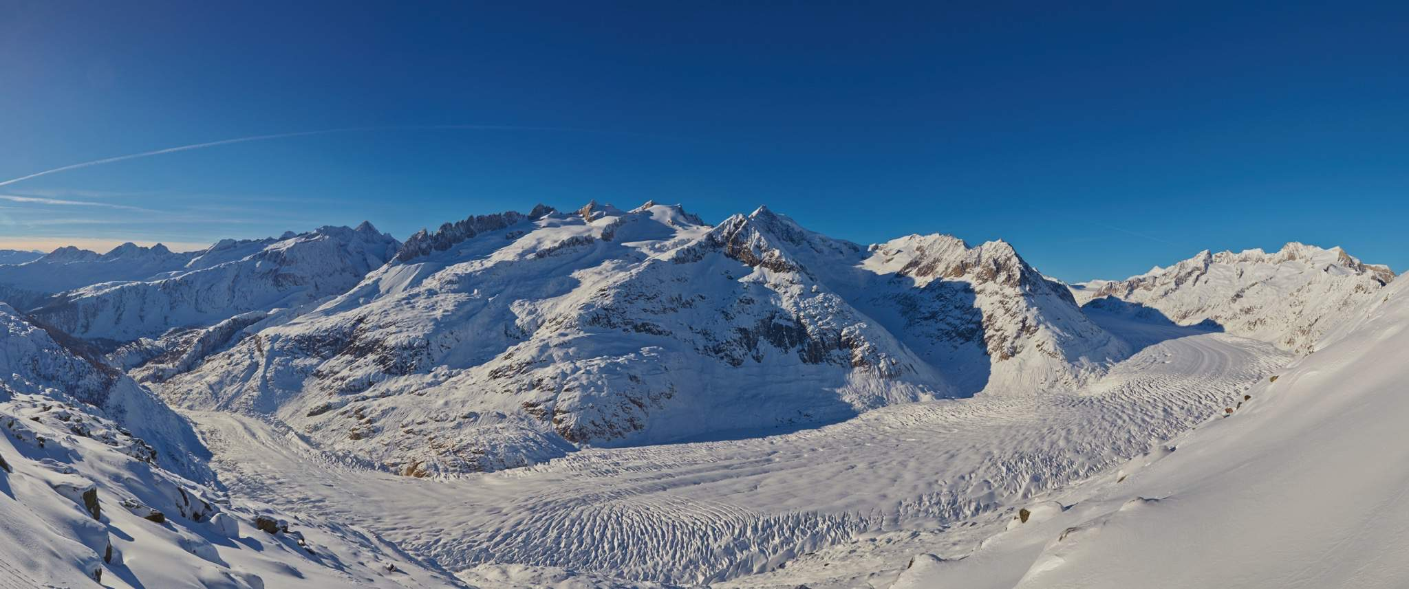 Aletsch Gletscher im Winter