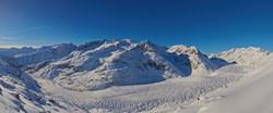 Aletsch Gletscher im Winter