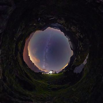Inverse Little Planet Moosfluh Aletsch Arena