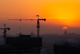 Baustellen in Beijing China