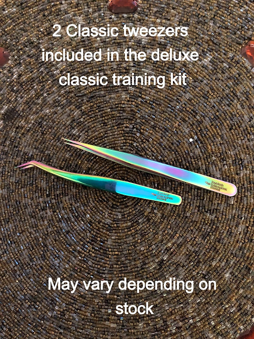 2 Classic tweezers included in deluxe training kit may vary depending on stock