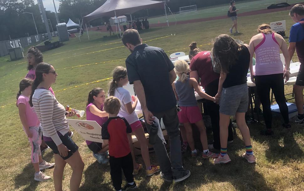 Kids fitness activities check-in