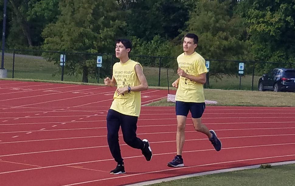 High School Boys' Mile Brehm Prep Runners