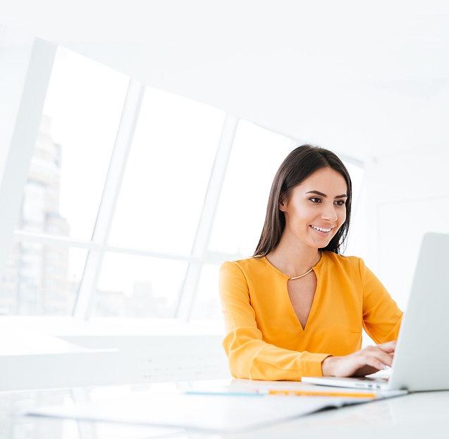 Person Researching Rental Properties