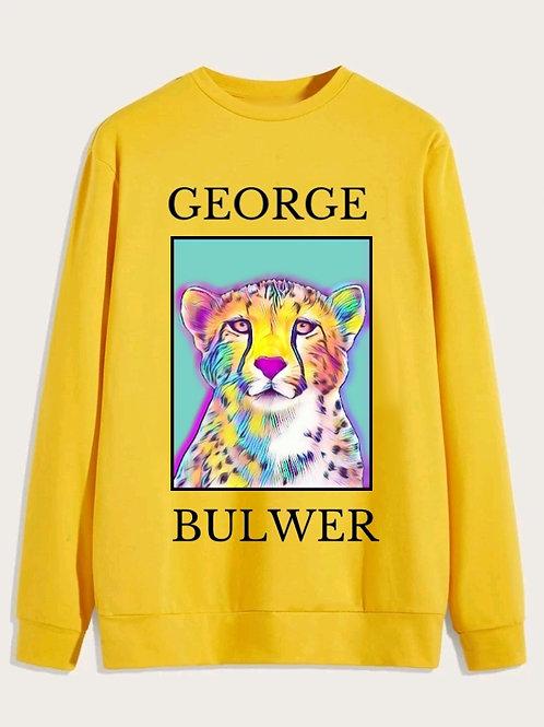 Yellow Unisex Crew Neck Sweater