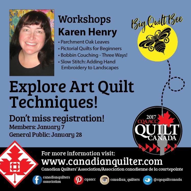 Quilt Canada 2017, June 14 - 17th