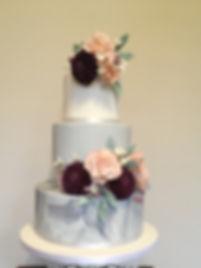Wedding Cake, Sugar flowers,
