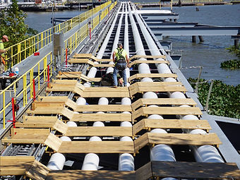 Marine Terminal | Engineering Line Lifting | Pipe Rack Jack | Safety | Ovolifts