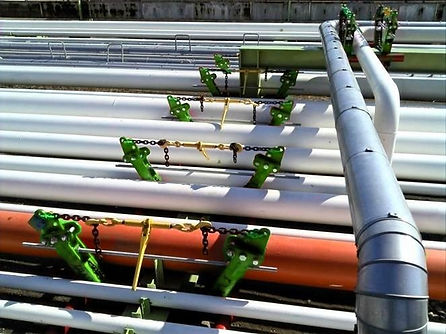 Ovolifts Mega-Jack | Corrosion Under Pipe Supports | Pipe Rack Jack | Engineered Line Lifting | Multiple Pipes