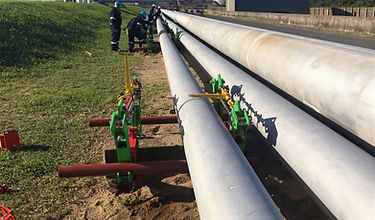 Above Ground Pipe | Ground Supports | Pipe Supports | Concrete Supports | Pipe Jack