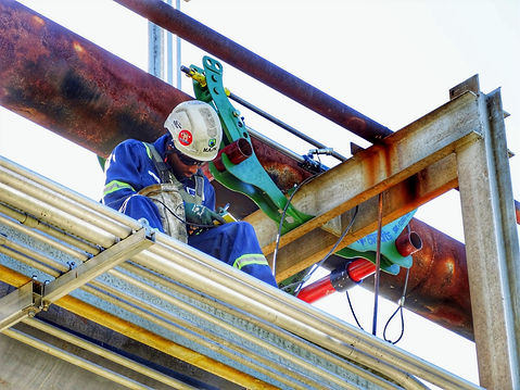 Rope Access - Pipe Inspection - Pipe integrity - Corrosion Under Pipe Supports (CUPS) - Touchpoint Corrosion