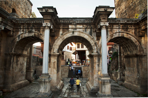 Hadrian door, Antalya old city, Turkey, 2017