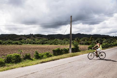 Stranger on a bike, Banes, Cuba, 2015