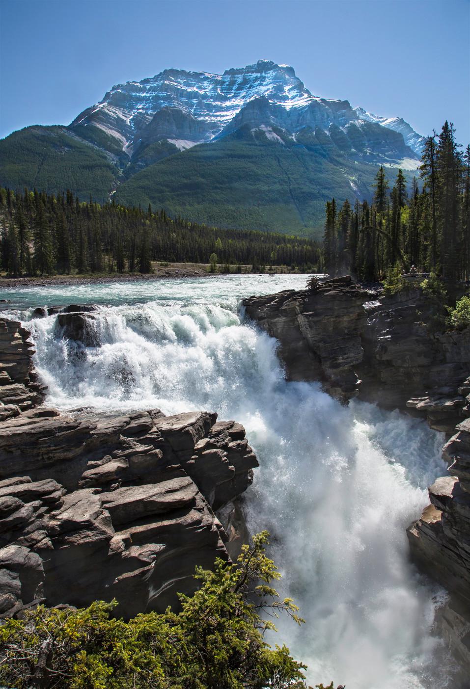 Athabasca waterfall, Banff, Ab, Canada, 2016