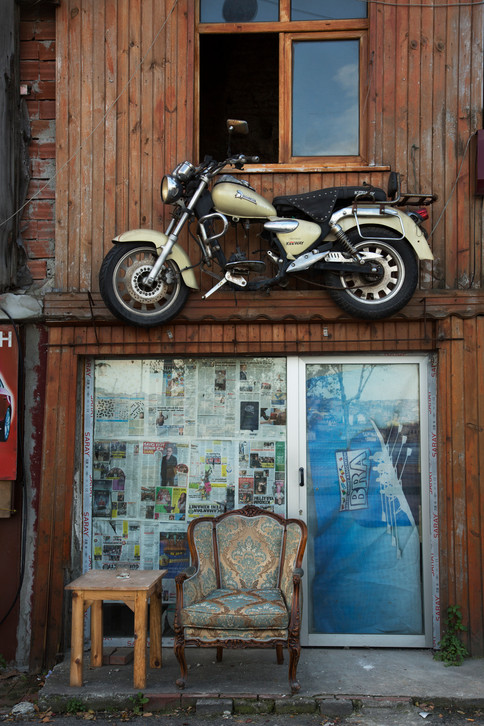 Flying moto, Balat, Istanbul, Turkey, 2017