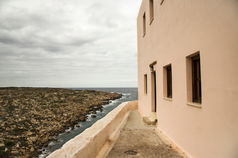 Building to sea, Chrysoskalitissa Monastery, Crete, 2017