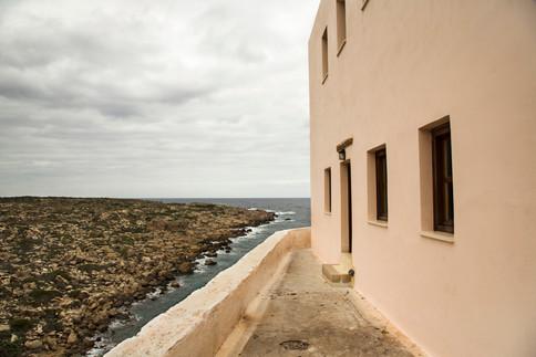 Building to sea, Chrysoskalitissa Monastery, Crete, 2017