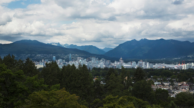 View on Vancouver from Queen Elizabeth park, Canada, 2016