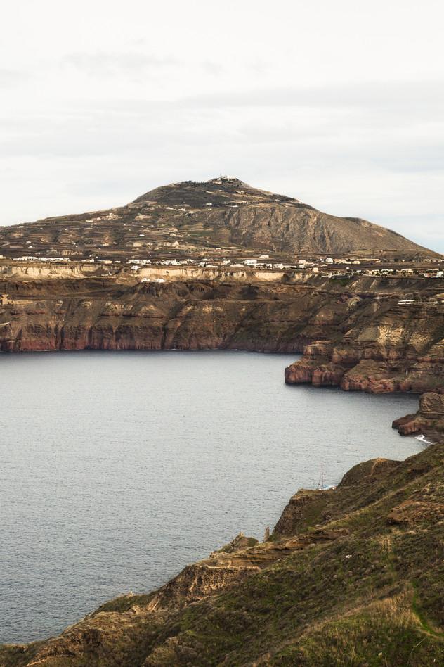 Santorini view from Akrotiri area, Greece, 2017
