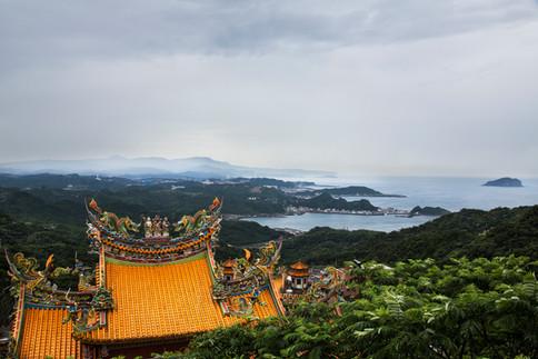Temple roof, Jiufen, Taiwan, 2015