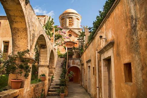 Walk into the Monastery, Agia Triada, Crete, 2017
