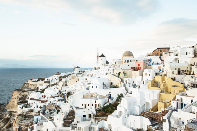 Famous view of Oia, Santorini, Greece, 2017