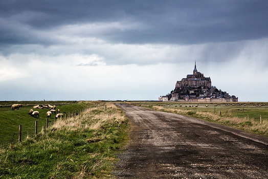 Dramatic sky, Mont St-Michel, France, 2013