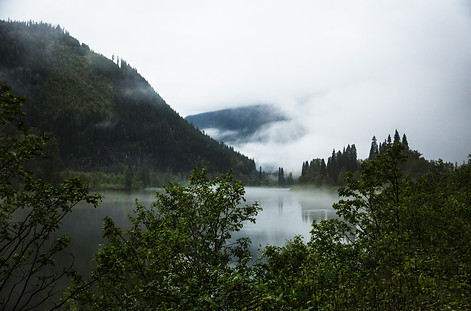 Foggy stop on the road, 99 sea to sky road, BC, Canada, 2016