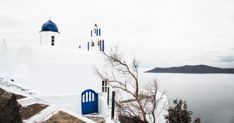 Chapel behind Skaros Rock, Imerogivli, Santorini, 2017