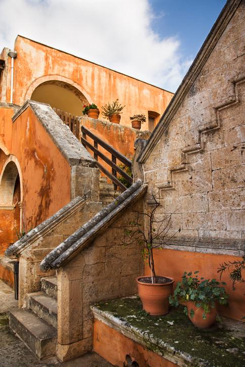 Stairway, Agia Triada Monestary, Crete, 2017