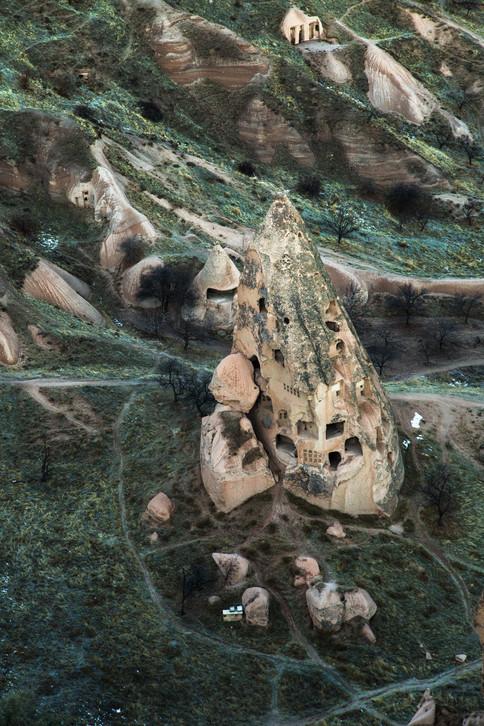 Random details, fairy chimney, Cappadocia, Turkey, 2017