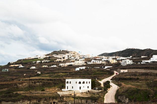 Land of Santorini island, Greece, 2017