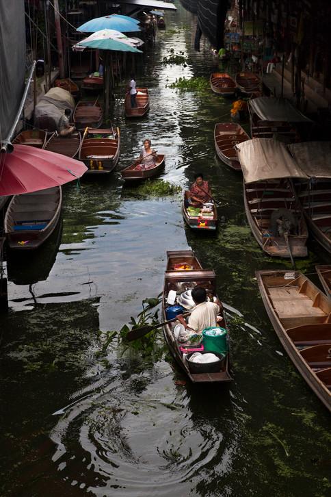 Damnoen Saduak floating market, Thailand, 2015