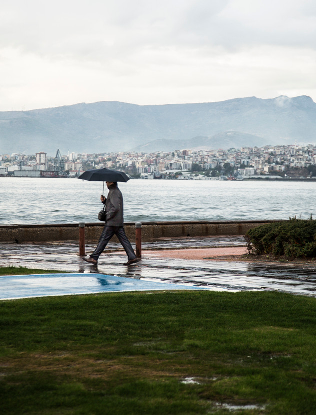 Rainy day in Izmir, Turkey, 2017
