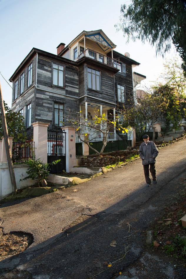 Monochrome street view, Prince Island, Istanbul, Turkey, 2017