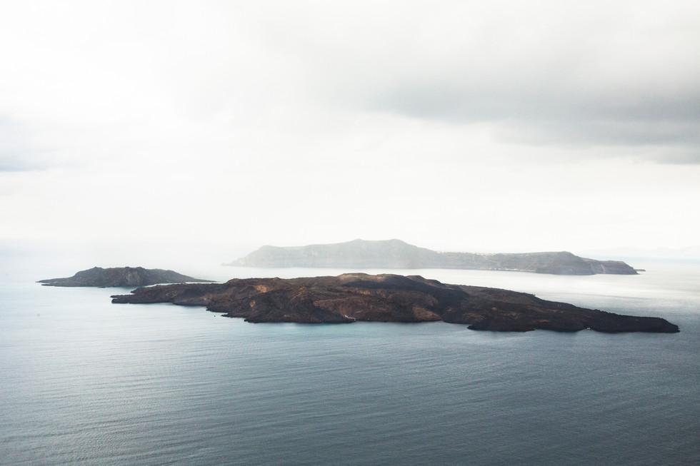 View on the archipel, Santorini island, Greece, 2017